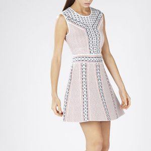 BCBG Maxazria Wilma Jacquard A-Line Dress